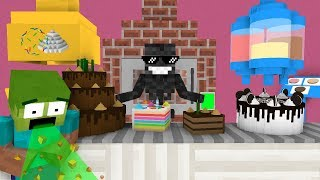 Monster School: WORK AT CAKE PLACE! - Minecraft Animation