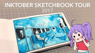 Inktober 2017 Sketchbook Tour | AmySunHee