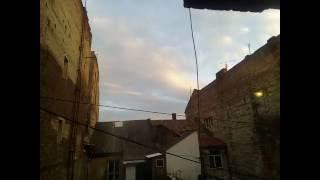 Time lapse вечернего неба в городе Самбор 2016