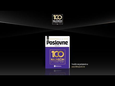 Publikacija 100 najvećih u Crnoj Gori