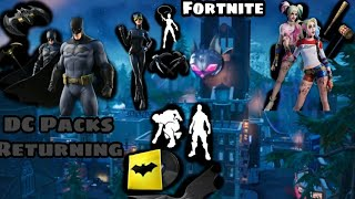DC Bundles Are Returning Very Soon! (Harley Quinn, Batman, Catwoman & Emotes/music Track |Fortnite