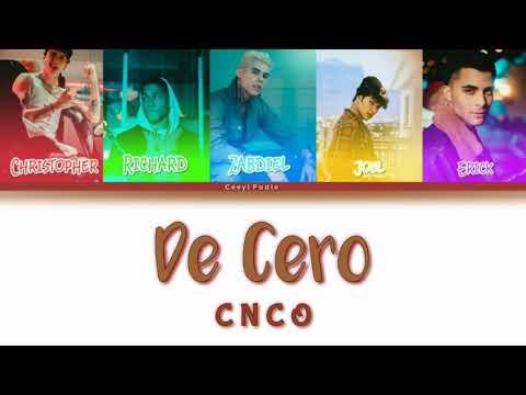 De Cero | CNCO | Color Coded Lyrics