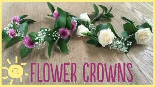 DIY | How To Make A Flower Crown (Real Flowers!)