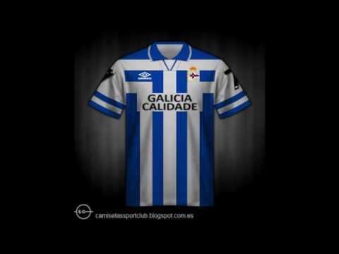 Evolución histórica de la camiseta del R.C.Deportivo