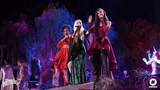 Dove Cameron, Jordan Sparks, And Sofia Carson Singing At Hocus Pocus 2018