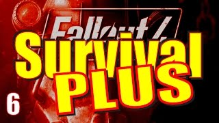 Fallout 4 Survival Mode Walkthrough Part 6 - Battle in Vault 114 & the Boston Public Library