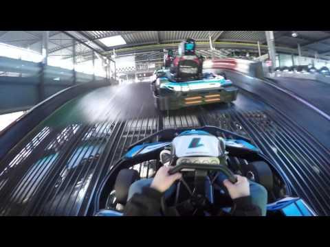 Multi-floor go-kart track