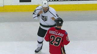Iginla and Engelland drop the gloves for a 12 round tilt