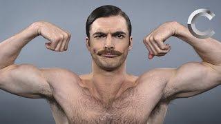 Смотреть онлайн Как менялись стрижки у мужчин в течение многих лет