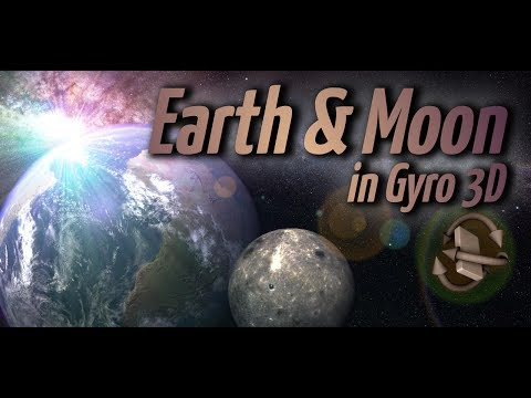 Earth & Moon in HD Gyro 3D PRO Parallax Wallpaper βίντεο