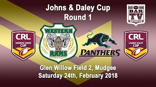 2018 CRL - Andrew Johns and Laurie Daley Cups - Round 1 - Western Rams v Penrith Panthers