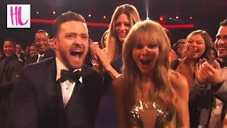 Taylor Swift Freaks Out With Justin Timberlake -- American Music Awards