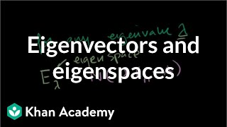 Linear Algebra:  Finding Eigenvectors and Eigenspaces example