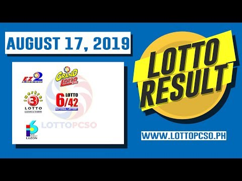 PCSO Lotto Results | Swertres Hearing Today & EZ2 (August 16, 2019 4:00PM)
