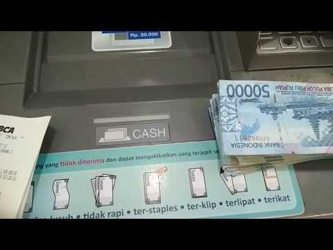 MUDAH, CARA SETOR TUNAI UANG CASH DI ATM BCA