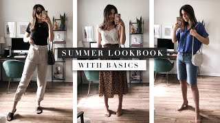 Outfit Basics Casual Summer Lookbook | By Erin Elizabeth