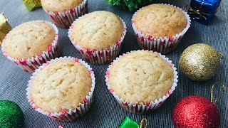 Eggless Banana Cupcake Without Oven | How To Make Banana Cupcake | Eggless Banana Muffins