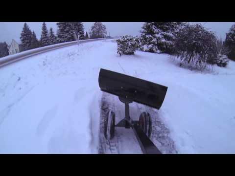 Hand Schneeschieber mit Rädern HS1