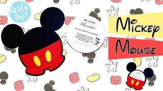 Invitacion De Mickey Mouse (DIY)    Party Pop!🎉   Tarjeta Mickey Mouse