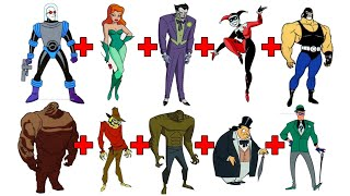 BATMAN VILLAINS CHARACTER FUSION!  Combining 10 VILLAINS Into ONE!