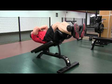 Incline Sit-up (arms crossed)