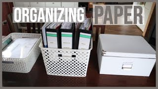 How I Organize My Paperwork - And Conquered Paper Clutter