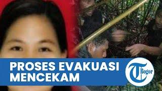 Suasana Mencekam Proses Evakuasi Jasad Gabriela Meilani dari Jurang 300 Meter