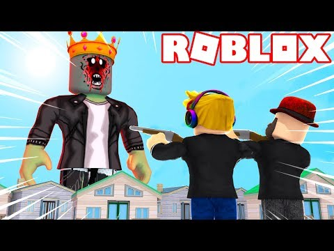 DESTROY A ZOMBIE KING In ROBLOX ZOMBIE ATTACK