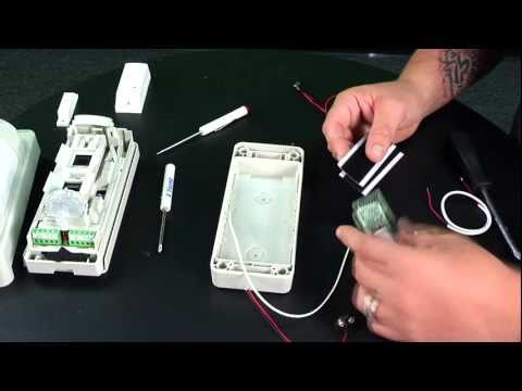 How to Wire a VX-402R OPTEX Outdoor Motion Detector to a Wireless Transmitter