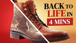 Ultimate Guide To Restoring Leather Boots // Back To Life In 4 Mins
