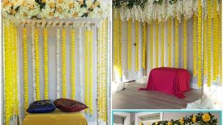 DIY- Haldi Ceremony Decor DIY- Wedding Backdrop . DIY- Desi Wedding Decor