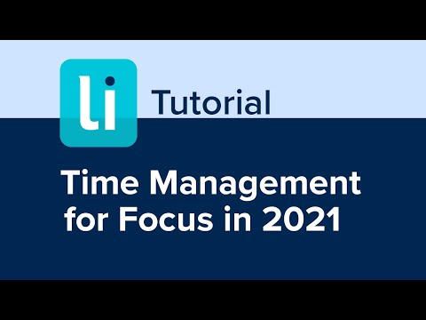 Time Management for Focus in 2021 - YouTube