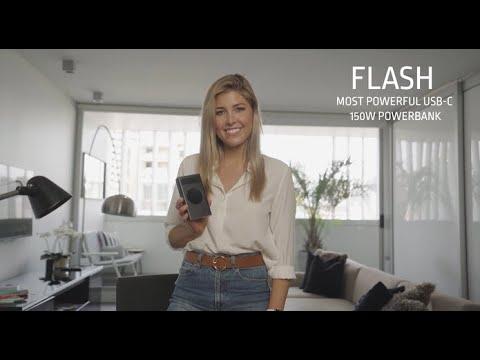 Flash: World's Most Powerful 150W USB-C Powerbank-GadgetAny