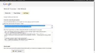 Add Google translator to your website