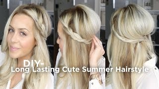 DIY Long Lasting Cute Summer Hairstyle
