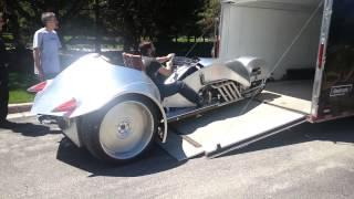 William Shatner Rivet Motors Trike Prototype Motorcycle Ride