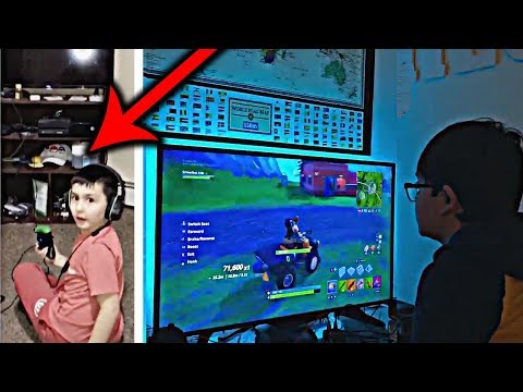 YouTube Challenge – I Turned Off the TV During Fortnite - Parents Turn OFF TV During Kids Play