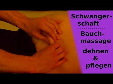 Schwangerschaft: Streifen vorbeugen mit Bauchmassage & Pflegeöl – Tutorial