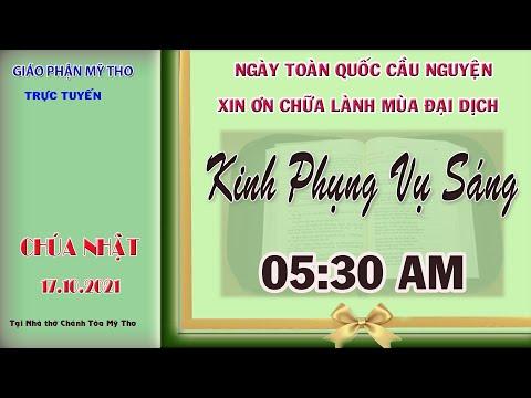 5g30 CN 17/10 : Kinh Phụng Vụ sáng tại nhà thờ Chánh Tòa   do Dòng thánh Phaolô phụ trách