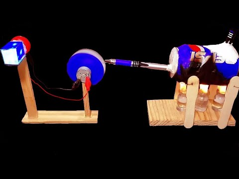 How to make Steam Powered Electricity Generator – DIY Cool Science Project