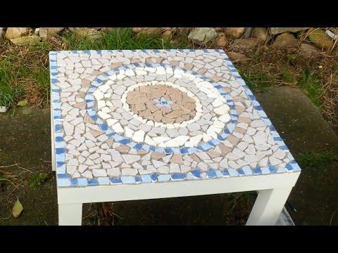 DIY-Mosaiktisch aus Fliesenresten| Mandala...oOffenBar