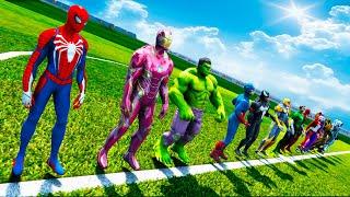 Football Super Challenge Spiderman and Superheroes! Мега Футбол с Супер героями и Человеком Пауком !