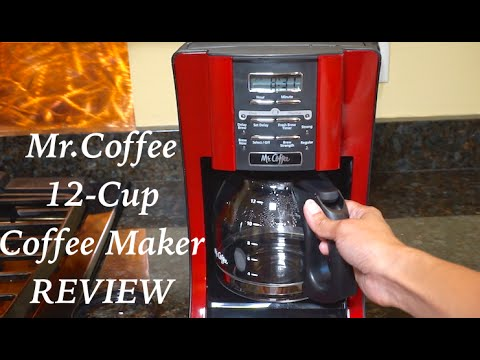 , Mr. Coffee 12-Cup Programmable Coffee Maker, Bundle with 1 Month Water Filtration