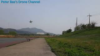 #16 Racing drone acro mode practice(Low altitude rotation)레이싱 드론 아크로 모드 비행연습(낮은 고도 회전)