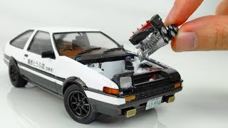How to Build a Super Realistic Initial-D Toyota AE86 Step by Step: Aoshima 1/24 Model Kit