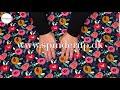 Se produktvideoen til French terry med malede blomster - sort på YouTube