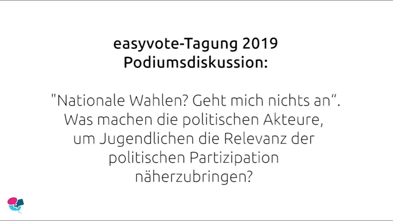 easyvoe-Tagung 2019: «Nationale Wahlen? Geht mich nichts an».