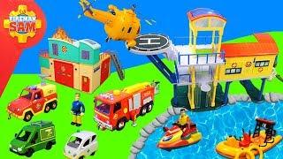 Feuerwehrmann Sam: Spielzeug & Feuerwehrautos Unboxing | Leuchtturm & Feuerwehrstation für Kinder