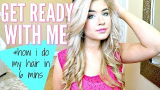 GET READY WITH ME | HOW I CURL MY HAIR IN 6 MINS  WITH A STRAIGHTENER | Love Meg