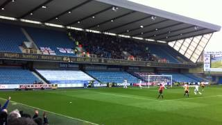preview picture of video 'Millwall vs Hull City - 07/04/12 - Andy Keogh Penalty'